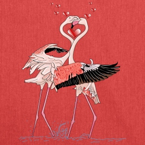 Liebe Flamingos - Schultertasche aus Recycling-Material