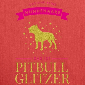 Keine Hundehaare - Pitbull Glitzer Pink - Schultertasche aus Recycling-Material