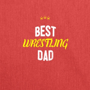 Distressed - BEST WRESTLING DAD - Shoulder Bag made from recycled material