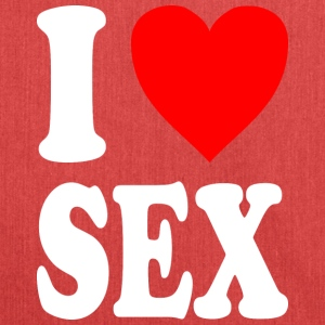 I love SEX - Schultertasche aus Recycling-Material