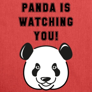 Panda on watching you - Olkalaukku kierrätysmateriaalista