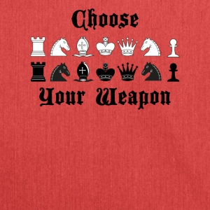 Chess Choose your weapon gift - Shoulder Bag made from recycled material