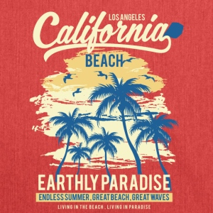 California Beach: endless summer, great beach! - Shoulder Bag made from recycled material