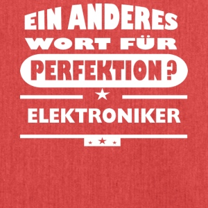 Elektroniker Anderes Wort fuer Perfektion - Schultertasche aus Recycling-Material