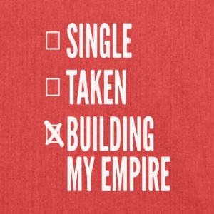 Single,taken,building my empire - Entrepreneur - Schultertasche aus Recycling-Material