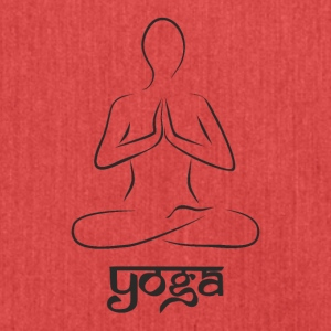Yoga und meditation - Schultertasche aus Recycling-Material