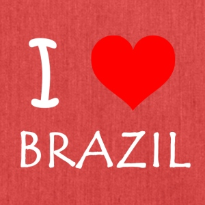 I Love Brazil - Schultertasche aus Recycling-Material