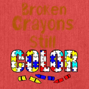 Broken crayons still color - Shoulder Bag made from recycled material