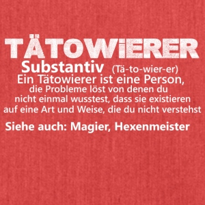 taetowiereristeineperson substantiv - Schultertasche aus Recycling-Material
