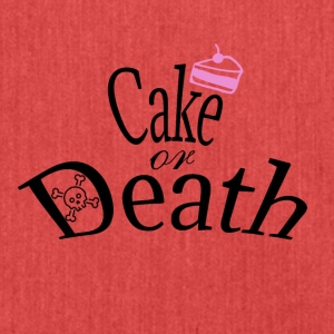 Cake or Death - Shoulder Bag made from recycled material