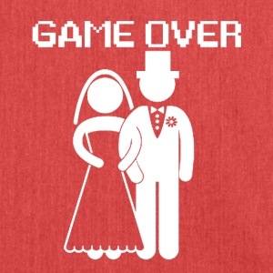 GAME OVER - Bandolera de material reciclado