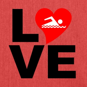 love swimming - Schultertasche aus Recycling-Material