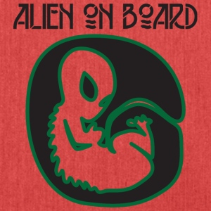 Alien / Area 51 / UFO: Alien On Board - Pregnant - Shoulder Bag made from recycled material