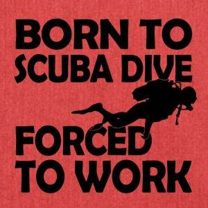 Born to scuba dive - Shoulder Bag made from recycled material