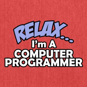 relax cprogrammer - Schultertasche aus Recycling-Material