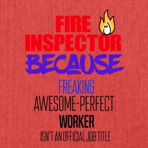 Fire Inspector - Shoulder Bag made from recycled material