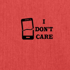 I don't care - Shoulder Bag made from recycled material