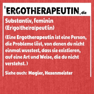 Ergotherapeutin Defintion - Schultertasche aus Recycling-Material