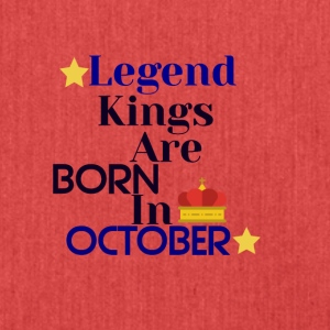Legend Kings are born in October - Shoulder Bag made from recycled material