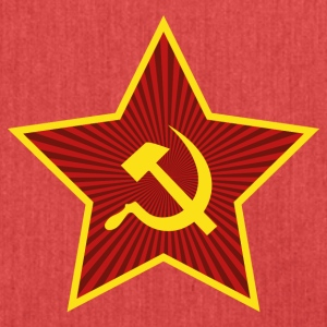 Flag Communist Star Hammer and Sickle - Shoulder Bag made from recycled material