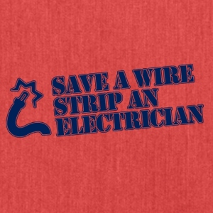 save a wire - Schultertasche aus Recycling-Material