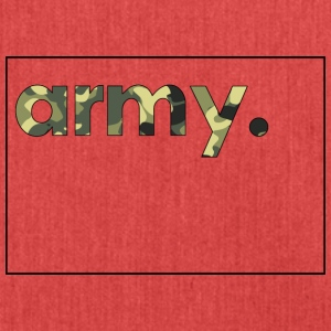 Army Camouflage - Schultertasche aus Recycling-Material