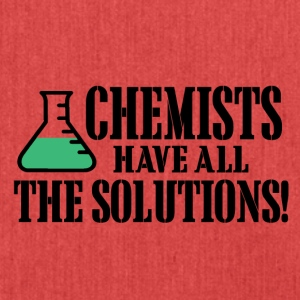 chemists have all the solutions - Schultertasche aus Recycling-Material
