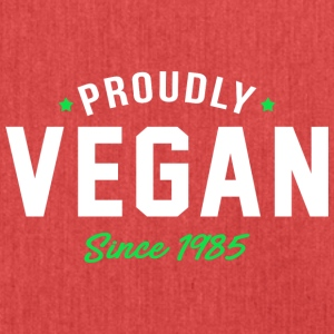 Vegan proud since 1985 proud vegan - Shoulder Bag made from recycled material