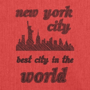 New York City is de beste stad in de wereld - Schoudertas van gerecycled materiaal