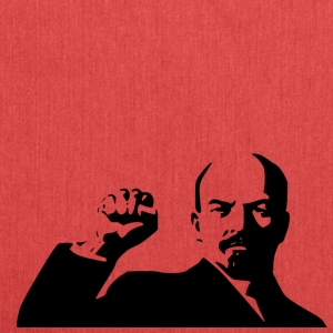 lenin stencil - Shoulder Bag made from recycled material
