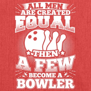 Funny Bowling Bowler Shirt All Men Equal - Schultertasche aus Recycling-Material