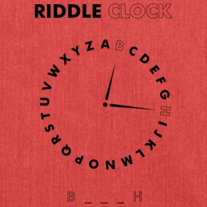 Riddle Clock Bitch - Schoudertas van gerecycled materiaal