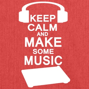 KEEP KALM make music - Schultertasche aus Recycling-Material