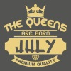 july born queens crown logo - Maglietta da donna con risvolti
