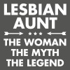 Lesbian Aunt - Women's T-Shirt with rolled up sleeves
