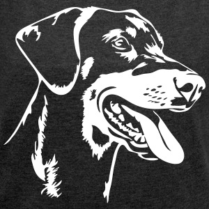 Doberman - Doberman Pinscher - Women's T-shirt with rolled up sleeves