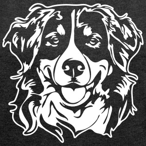 BERNESE MOUNTAIN DOG PORTRAIT - Women's T-shirt with rolled up sleeves
