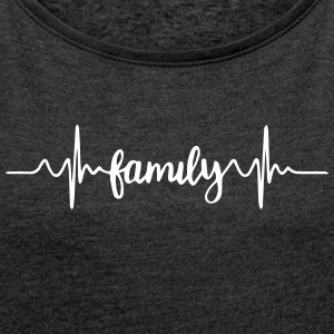 Family - Women's T-shirt with rolled up sleeves