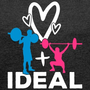 Ideal partnership - Women's T-shirt with rolled up sleeves