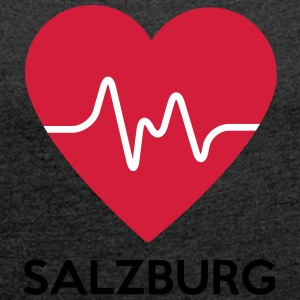 heart Salzburg - Women's T-shirt with rolled up sleeves