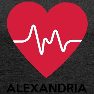 heart Alexandria - Women's T-shirt with rolled up sleeves