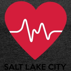 Heart Salt Lake City - Dame T-shirt med rulleærmer
