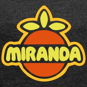 MIRANDA - Women's T-shirt with rolled up sleeves
