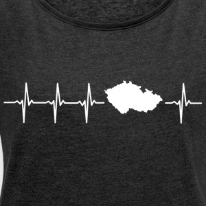 I like the Czech Republic (Czech Republic heartbeat) - Women's T-shirt with rolled up sleeves