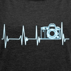 Heartbeat photography - Women's T-shirt with rolled up sleeves