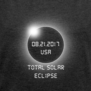 Total Solar Eclipse - Women's T-shirt with rolled up sleeves