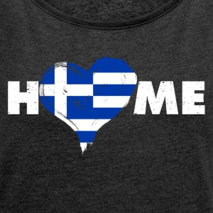 Home love Greece - Women's T-shirt with rolled up sleeves