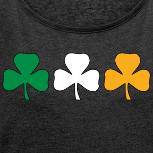 Ireland Shamrock Flag - Women's T-shirt with rolled up sleeves