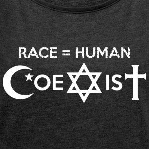 Coexist - Women's T-shirt with rolled up sleeves