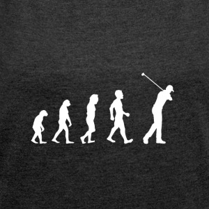 Evolution Golf - Golfer - Heden - golf instructeur - Vrouwen T-shirt met opgerolde mouwen